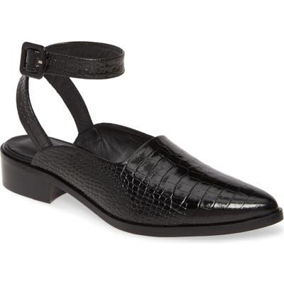 Freda Salvador Marbella Ankle Strap Flat- Black