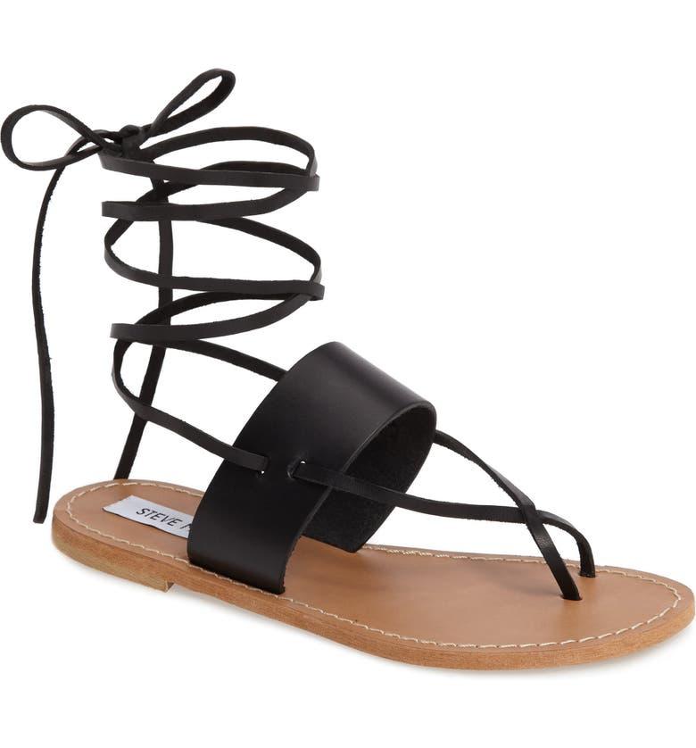 STEVE MADDEN Bianca Lace-Up Sandal, Main, color, 001