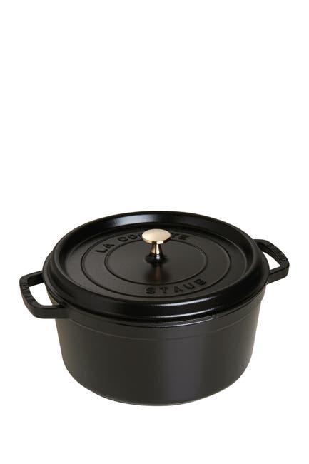 Image of Staub Black Round 7 QT Cocotte