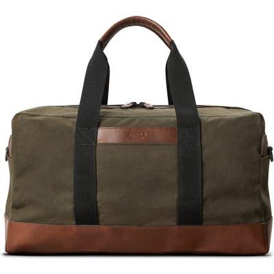 Shinola Mack Waxed Canvas Duffle Bag - Brown