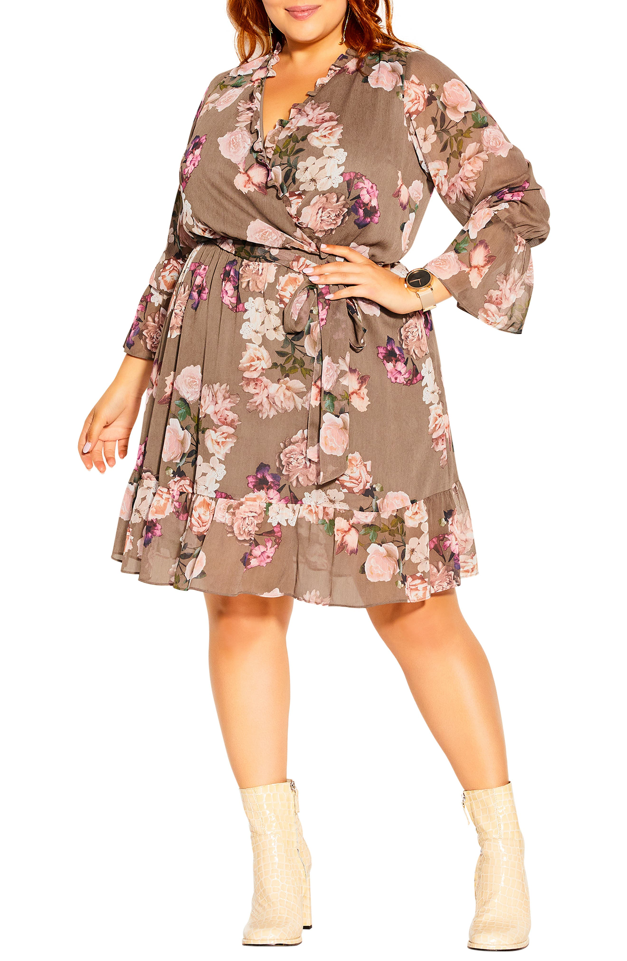 Kindred Faux Wrap Dress