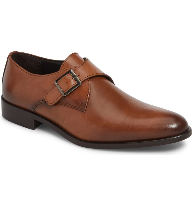 TO BOOT NEW YORK San Marcos Monk Strap Shoe, Main, color, BROWN LEATHER