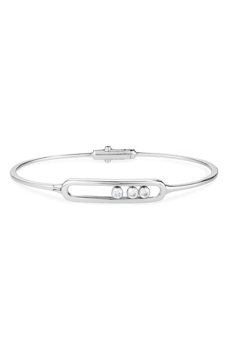 MESSIKA Move Diamond Bangle, Main, color, WHITE GOLD