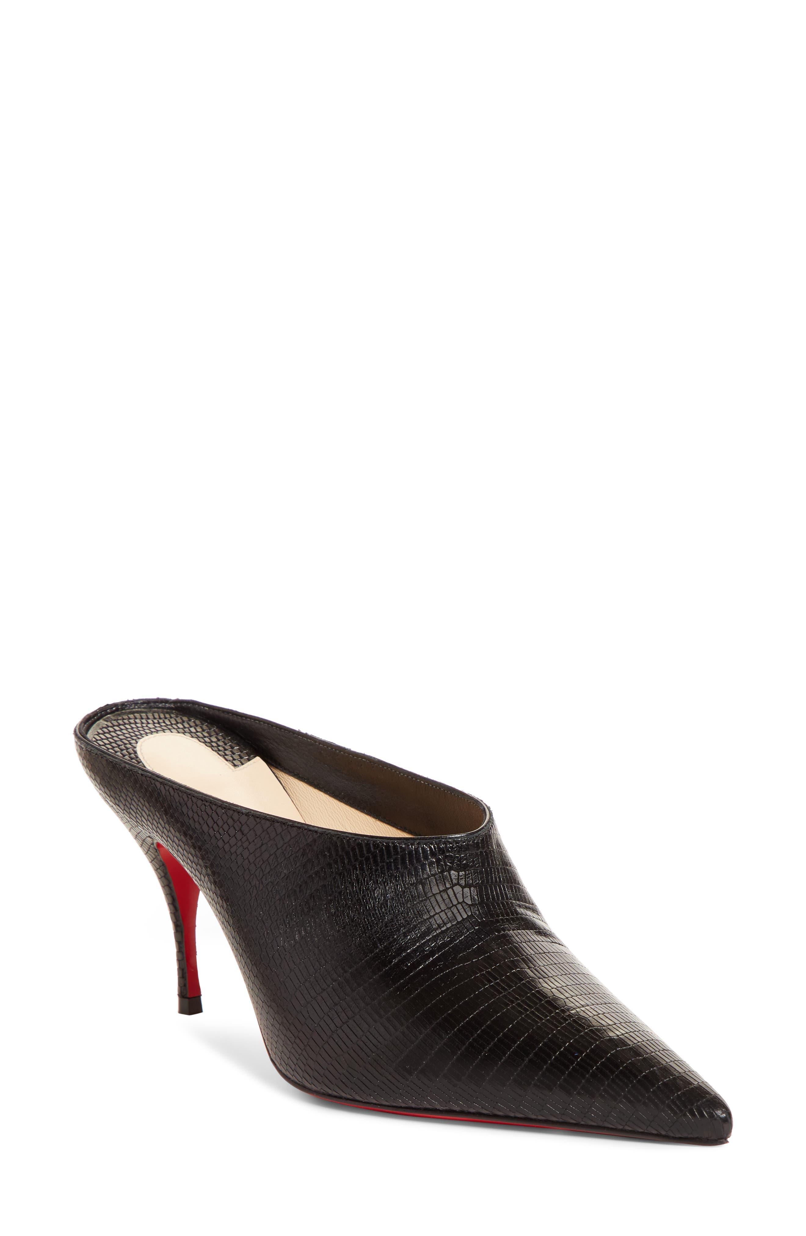 Christian Louboutin Quart Pointy Toe Mule - Black