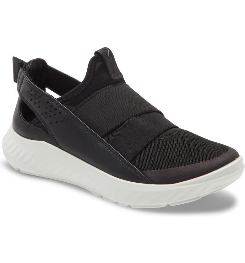 ECCO St.1 Lite Slip-On Sneaker, Main, color, BLACK