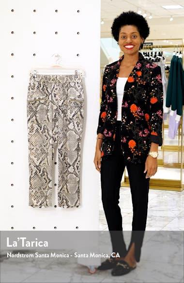Leigh Snake Print Drapey Silk Pants, sales video thumbnail