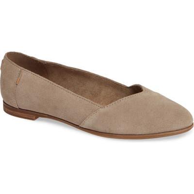 Toms Julie Almond Toe Flat, Beige