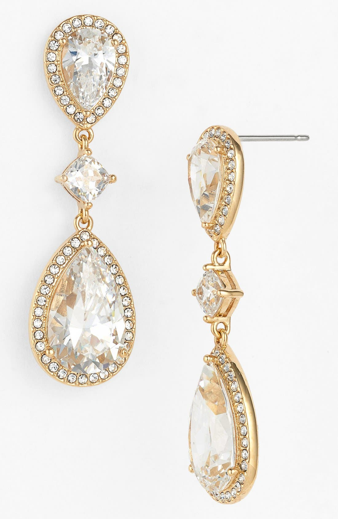 ,                             Cubic Zirconia Drop Earrings,                             Main thumbnail 3, color,                             710