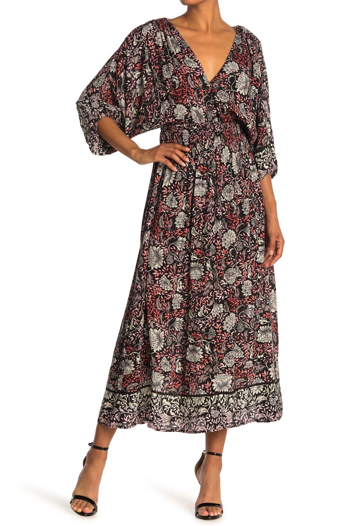 Image of Love Stitch Floral Midi Dress