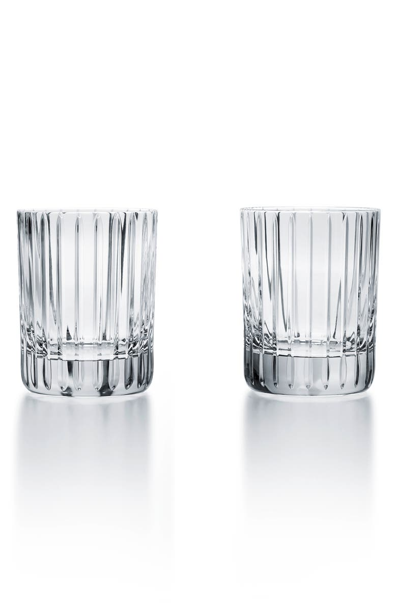 BACCARAT Harmonie 2 Set of 2 Lead Crystal Tumblers, Main, color, CLEAR