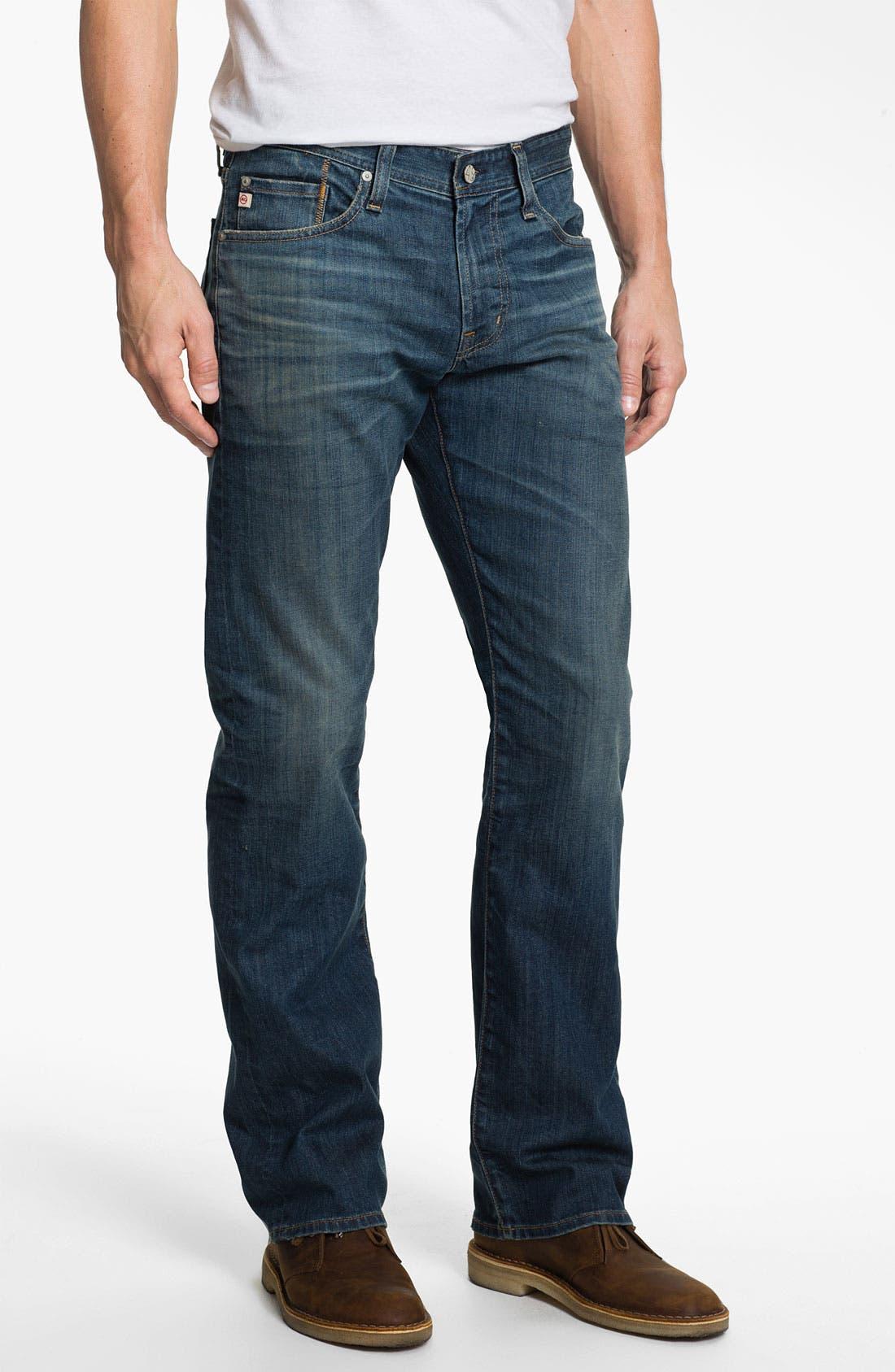 ,                             'Protégé' Straight Leg Jeans,                             Main thumbnail 14, color,                             407