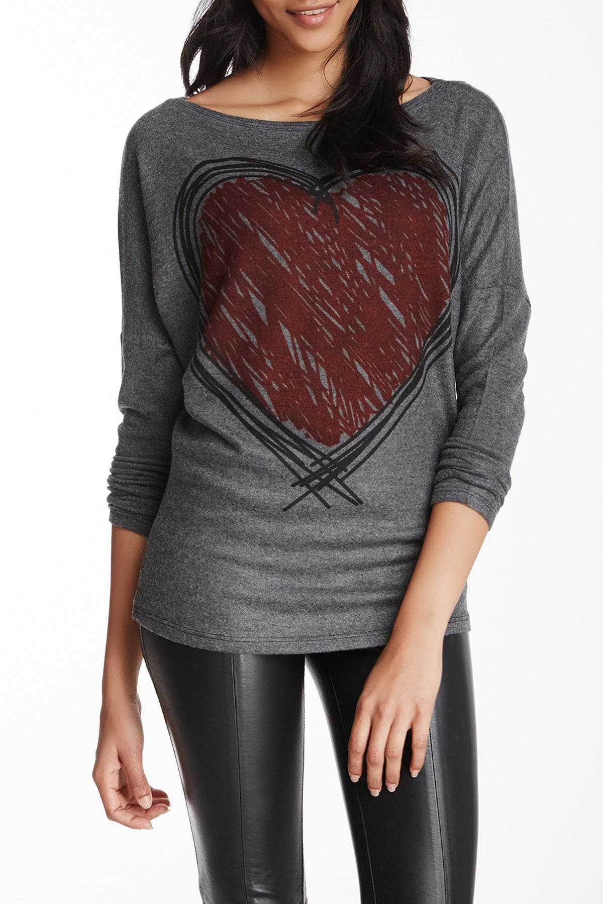 Image of Go Couture Boatneck Dolman Sweater