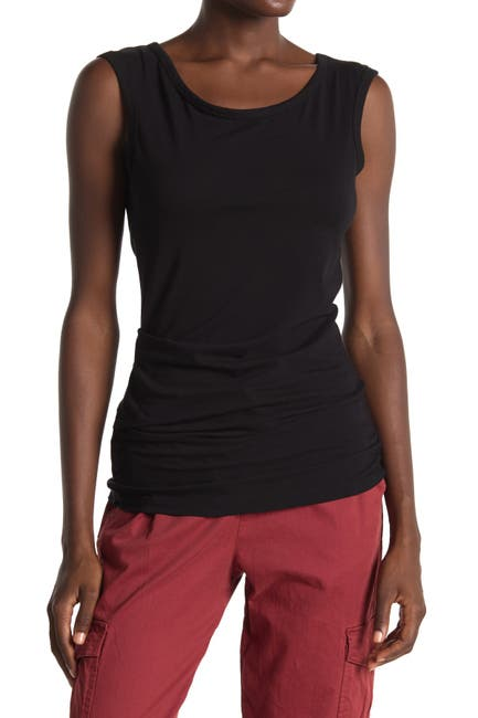 Image of James Perse Tucked Ballet Top