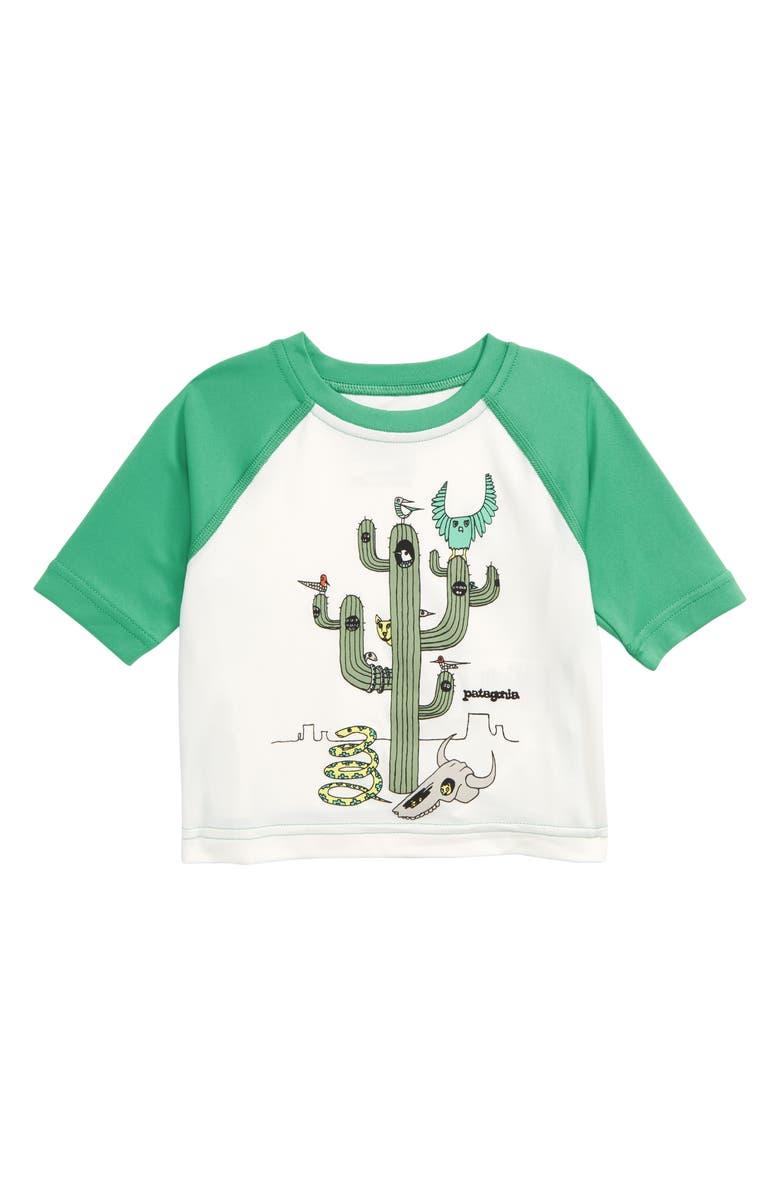 PATAGONIA Capilene<sup>®</sup> Silkweight T-Shirt, Main, color, CCBW CACTUS CREW: BIRCH WHITE