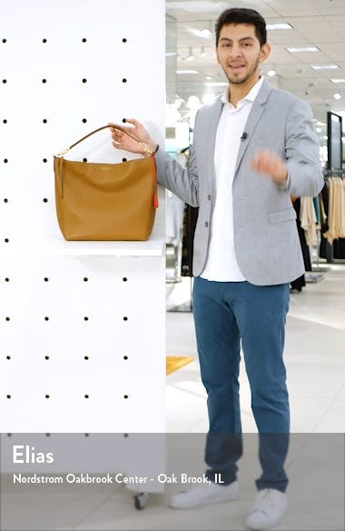 Perry Leather Hobo Bag, sales video thumbnail