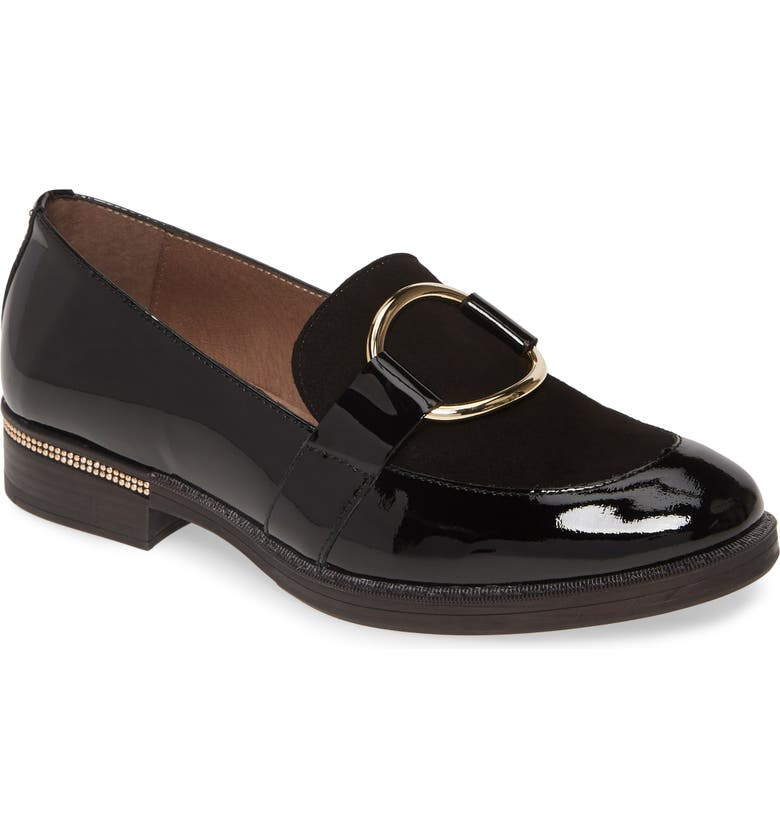 WONDERS A7231 Loafer, Main, color, BLACK LEATHER