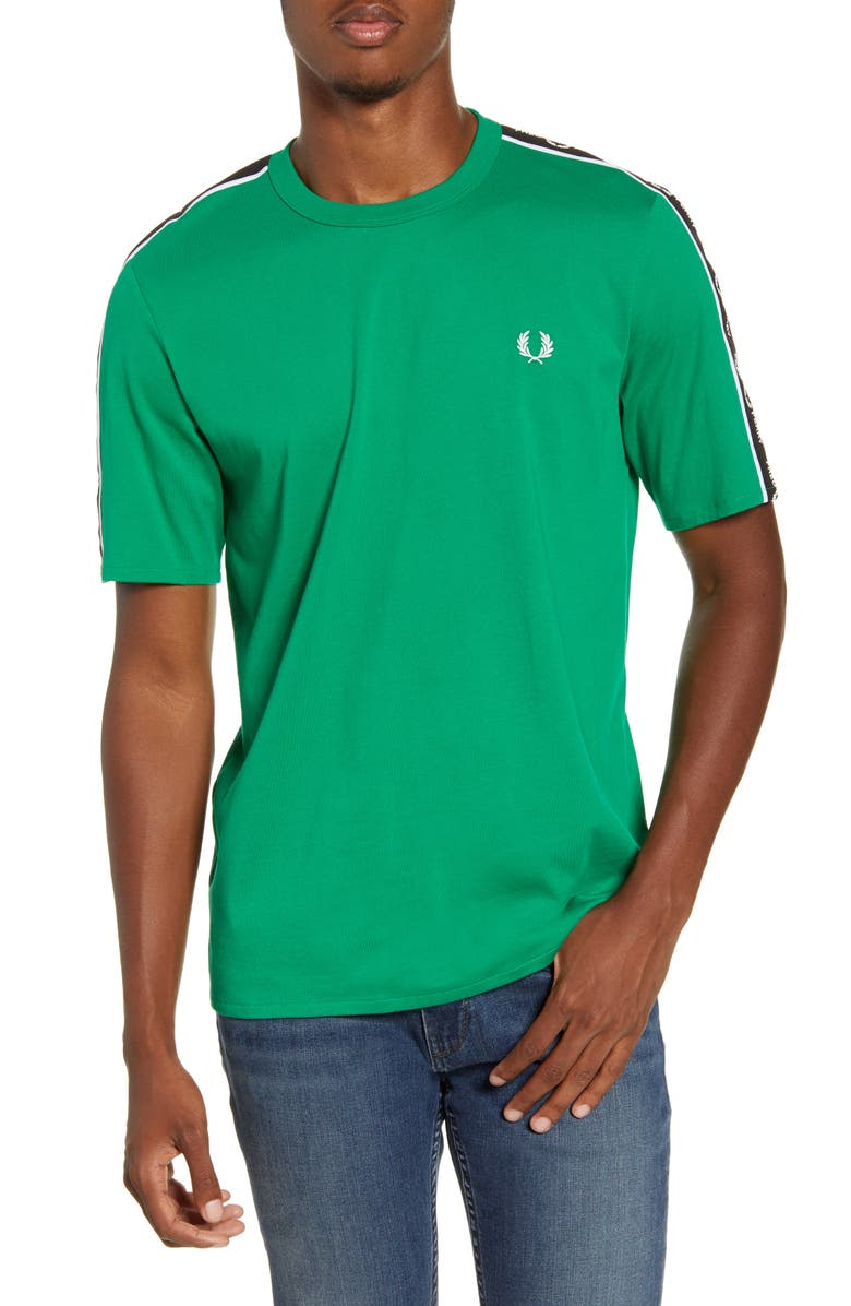 FRED PERRY Logo Tape T-Shirt, Main, color, ELECTRIC GREEN