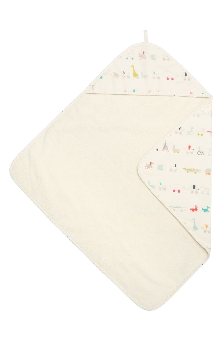 PEHR Pull Toys Print Hooded Towel, Main, color, MULTI