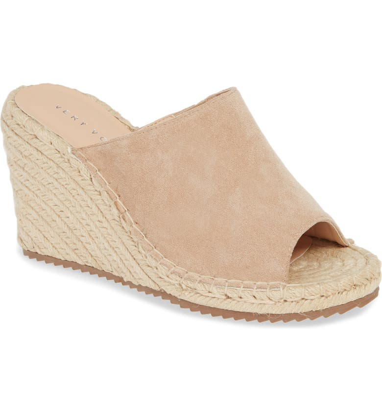 VERY VOLATILE Mused Espadrille Wedge Slide Sandal, Main, color, SAND