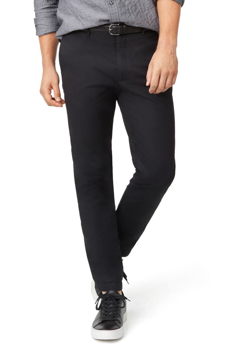 CLUB MONACO Connor Slim Fit Stretch Cotton Chino Pants, Main, color, BLACK