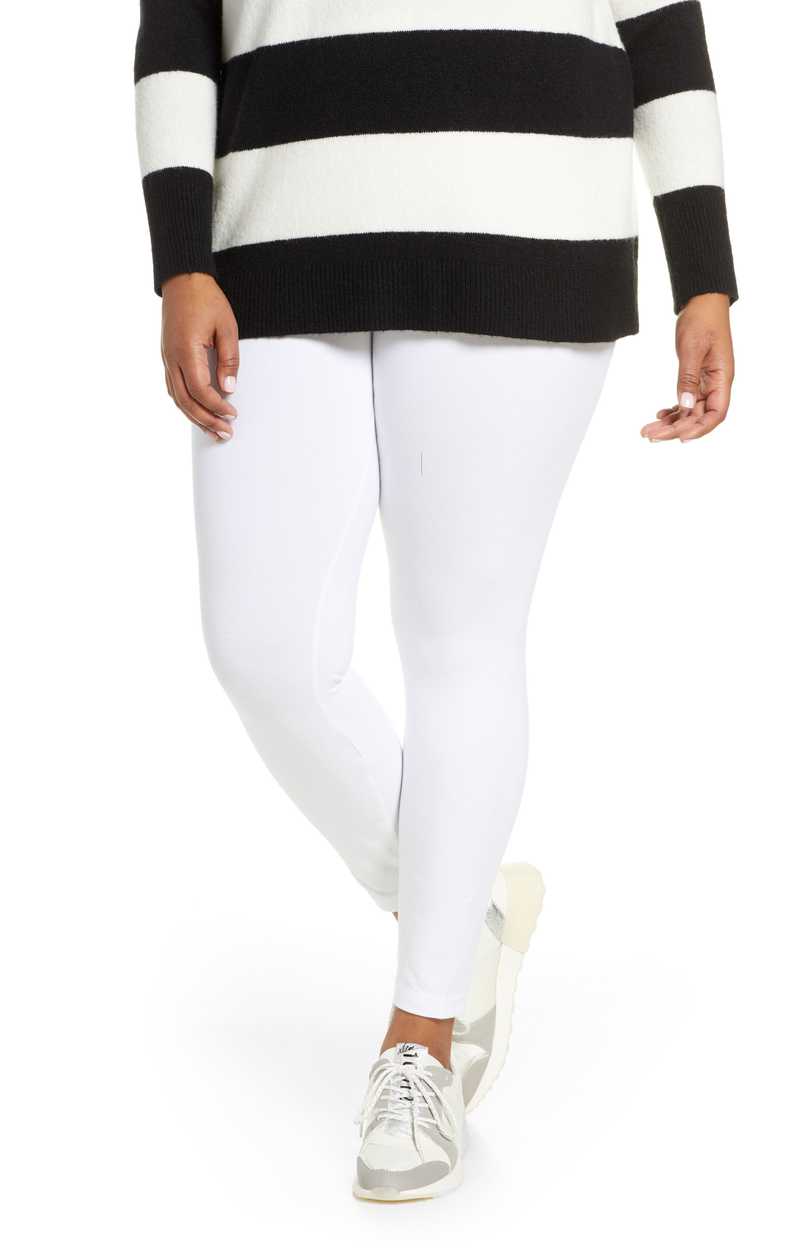 Plus Size Lysse Control Top Leggings, White