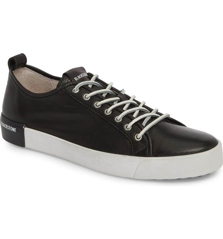 BLACKSTONE PM66 Low Top Sneaker, Main, color, BLACK LEATHER