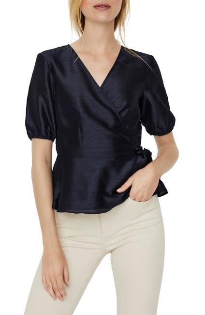 Image of VERO MODA Maya Short Sleeve Wrap Top