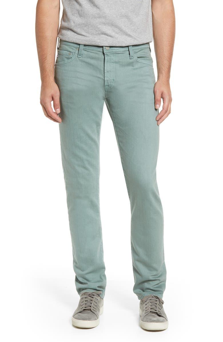 AG Tellis Slim Fit Jeans, Main, color, 7 YEARS SULFUR BLUE LAKE