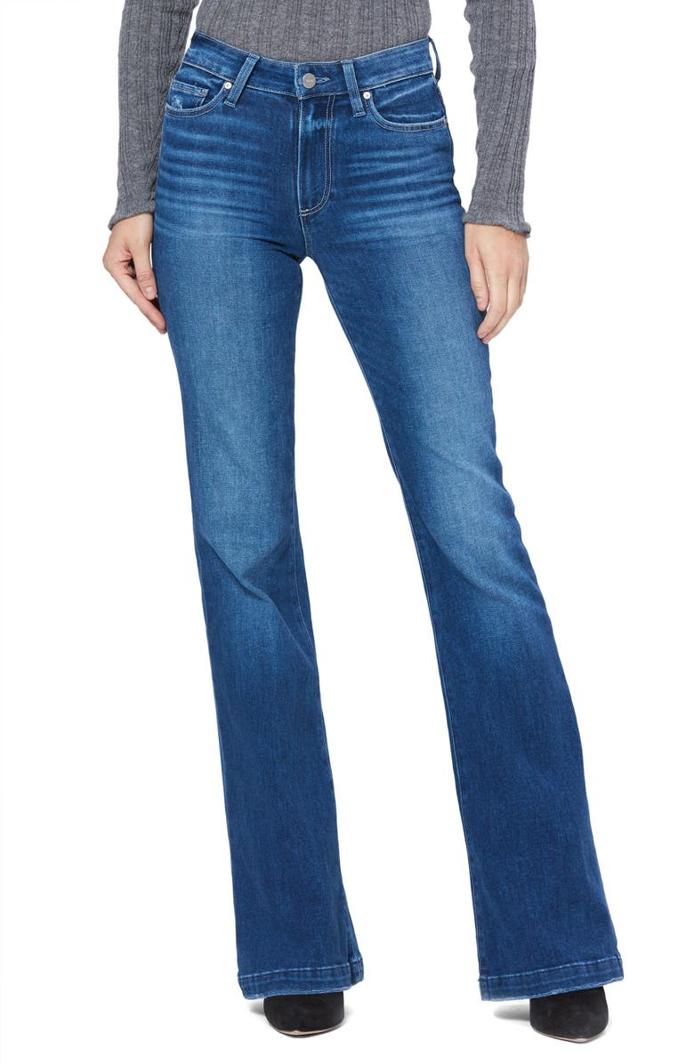 PAIGE Genevieve High Waist Flare Jeans, Main, color, LOOKOUT