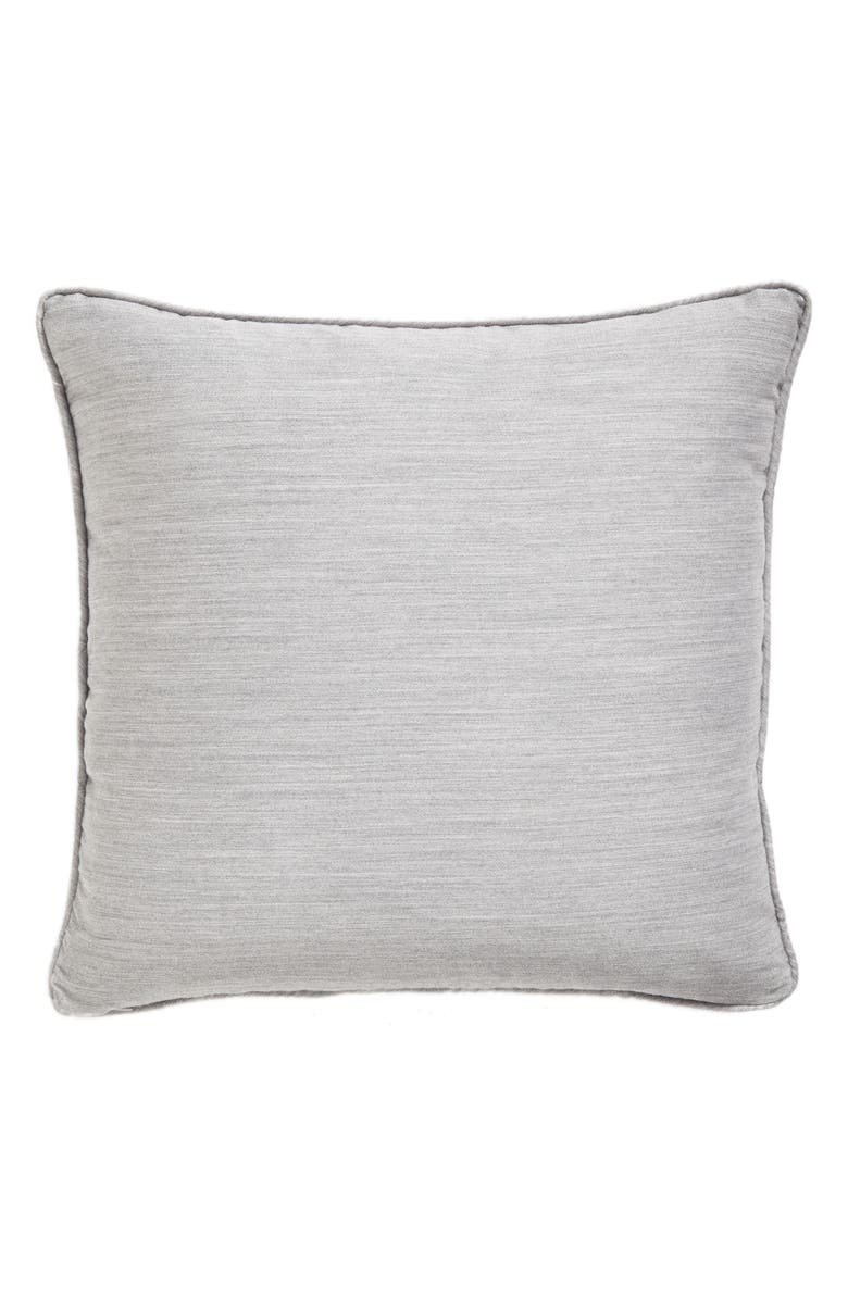 SFERRA Brione Accent Pillow, Main, color, ALUMINUM