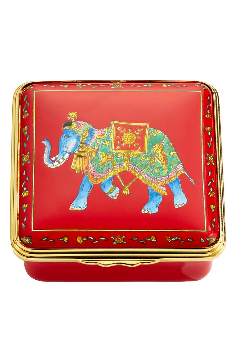 HALCYON DAYS Ceremonial Indian Elephant Enamel Box, Main, color, 600