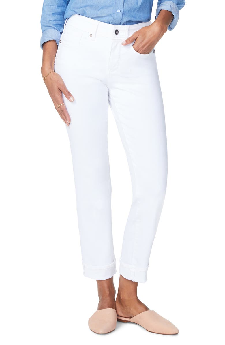 NYDJ Marilyn Cuff Ankle Straight Leg Jeans, Main, color, 103