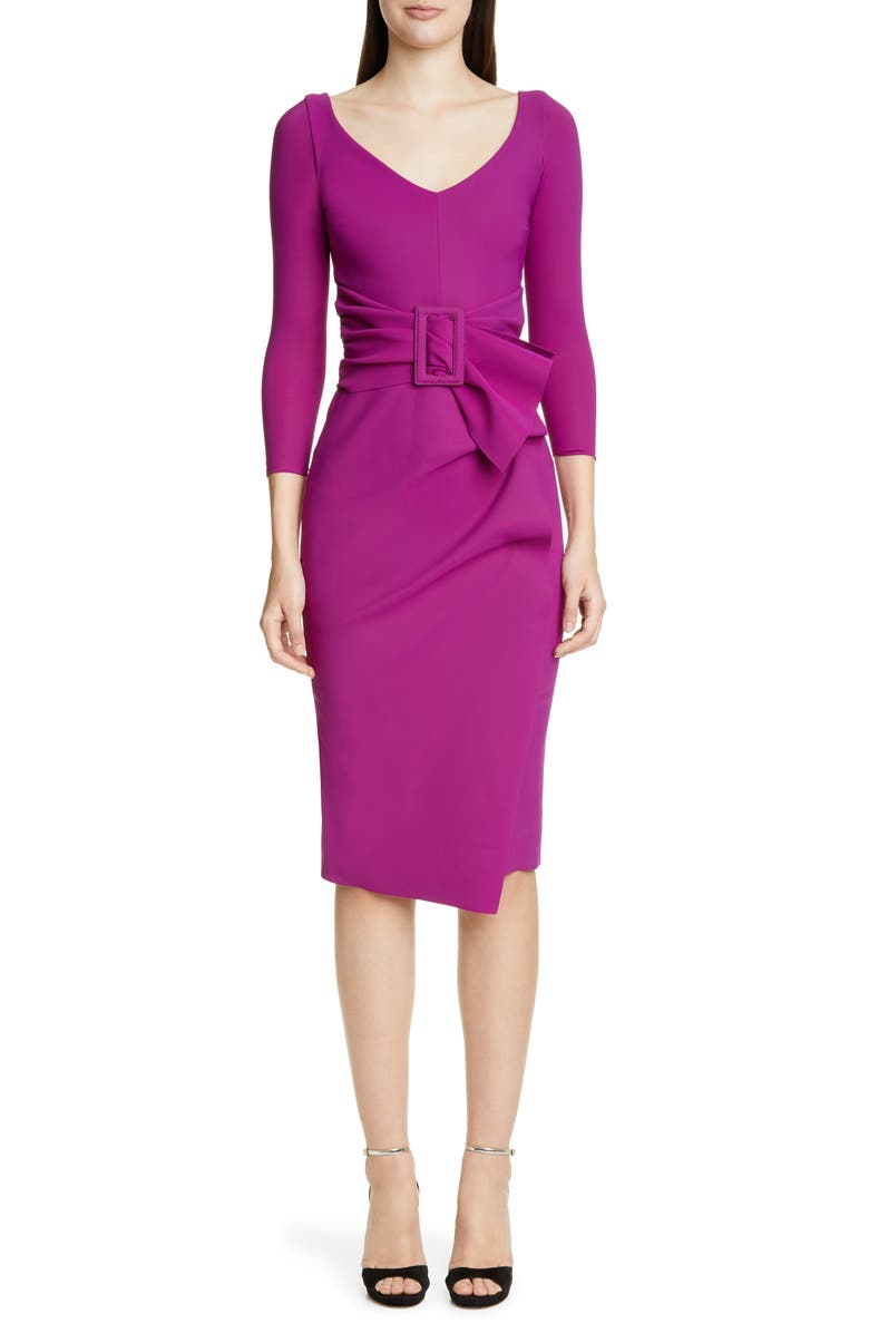CHIARA BONI LA PETITE ROBE Rannah Belted Cocktail Dress, Main, color, WINE