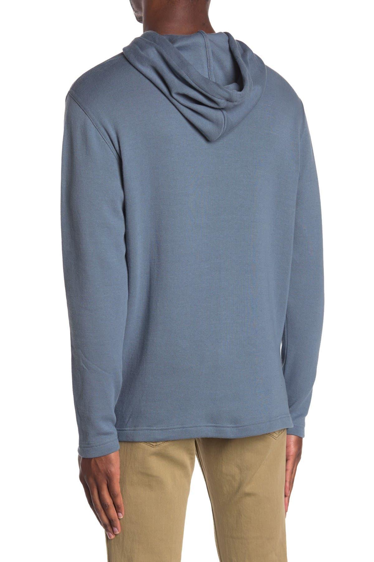 Image of Oxford Milton Long Sleeve Hooded Knit Hoodie