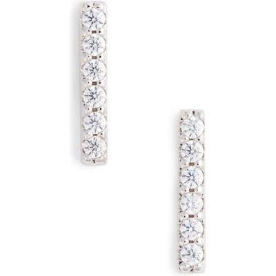 Nordstrom Pave Bar Stud Earrings