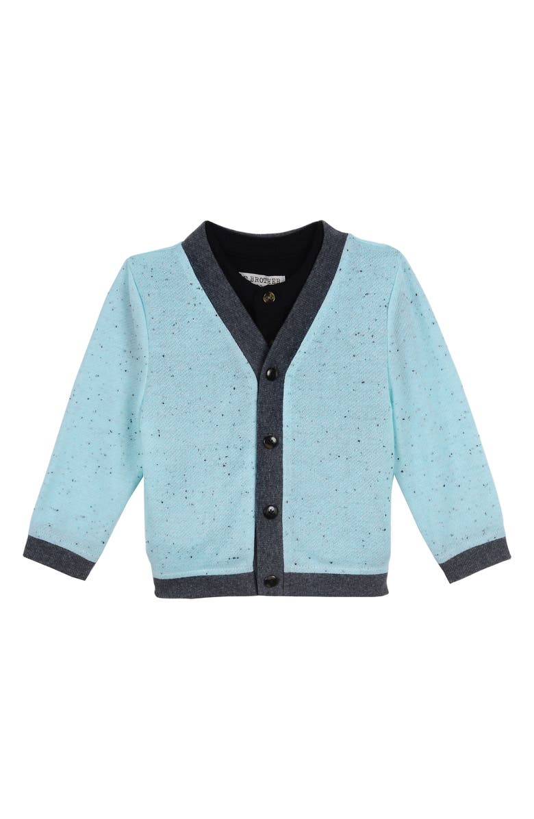 LITTLE BROTHER BY PIPPA & JULIE Cardigan & Henley Set, Main, color, 300