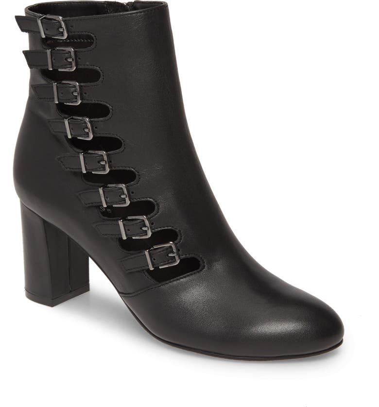 DAVID TATE Mood Bootie, Main, color, BLACK LEATHER