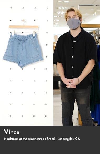 Hazel Paperbag Waist Denim Shorts, sales video thumbnail