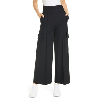 Stella Mccartney Wool Cargo Pants, US / 40 IT - Black