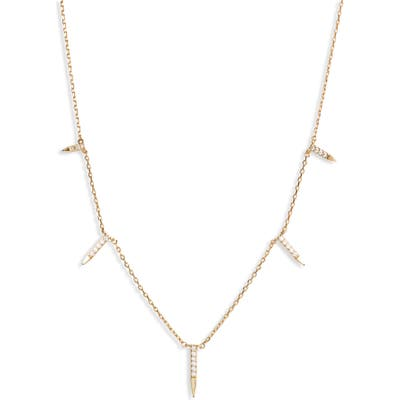 Uncommon James By Kristin Cavallari Dagger Charm Station Necklace
