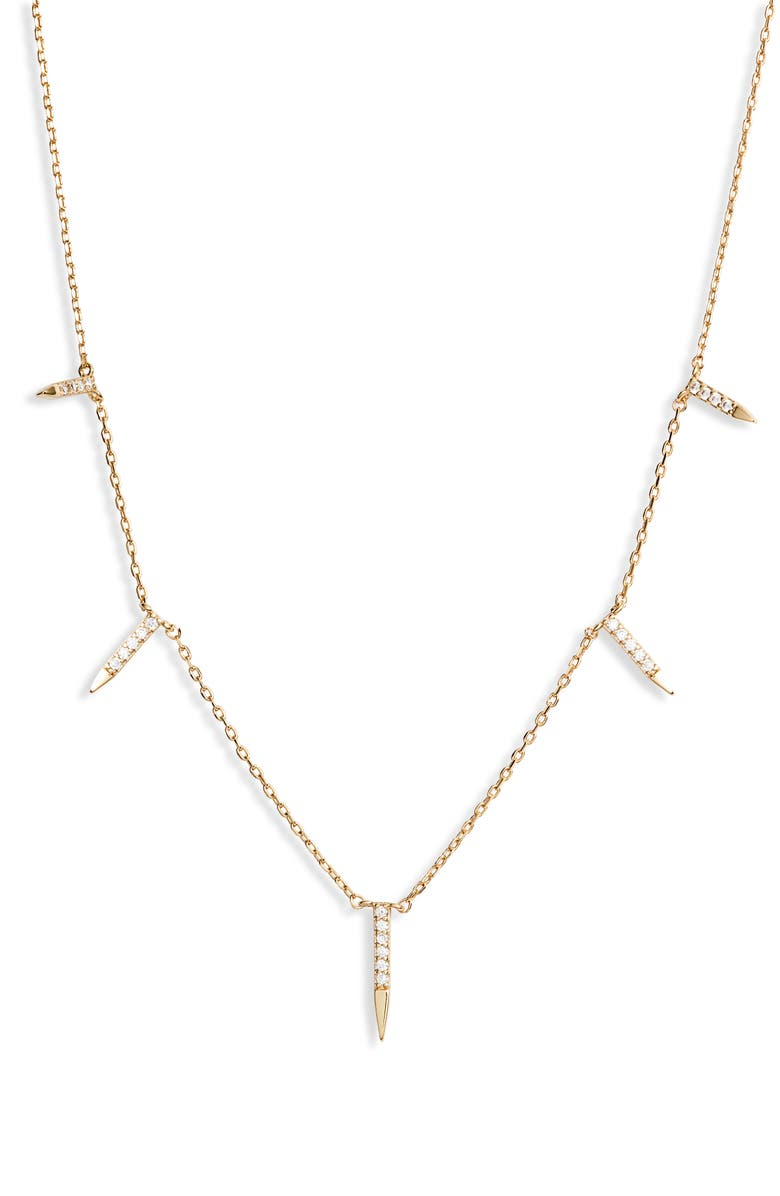 UNCOMMON JAMES BY KRISTIN CAVALLARI Dagger Charm Station Necklace, Main, color, GOLD