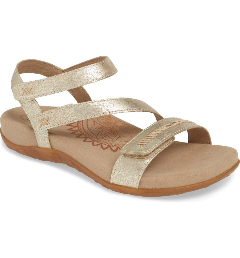 AETREX Gabby Sandal, Main, color, GOLD LEATHER