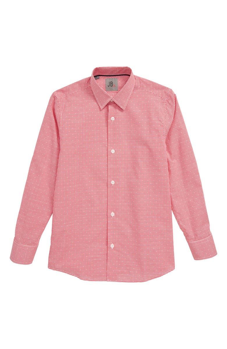 JB JR. Check Dress Shirt, Main, color, RED