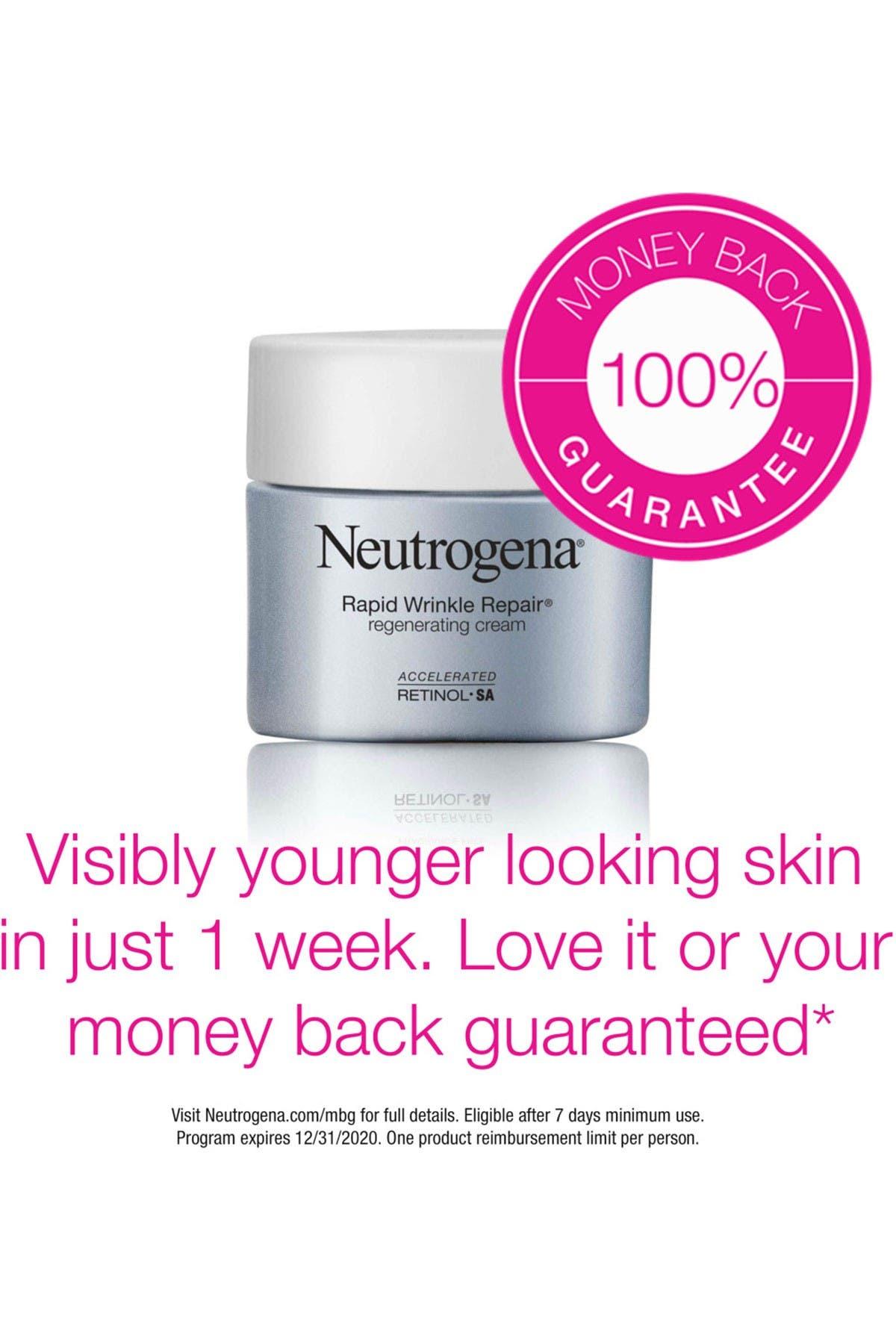 Image of Neutrogena Rapid Wrinkle Repair Retinol Regenerating Face Cream & Hyaluronic Acid Anti-Wrinkle Face Moisturizer, Neck Cream, with Hyaluronic Acid & Retinol, Travel Size, 0.5 oz