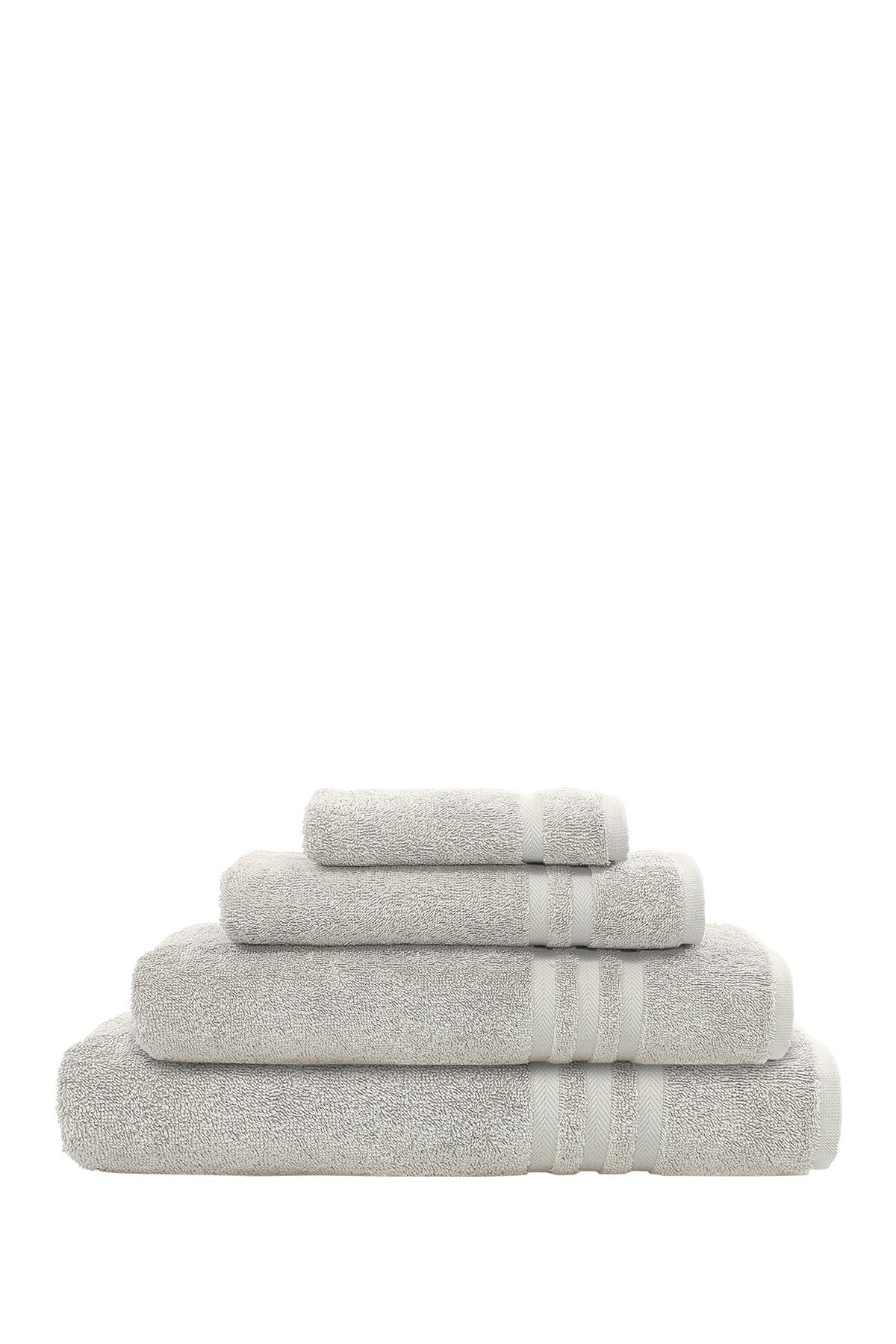 Image of LINUM HOME Denzi 4-Piece Towel Set - Grey
