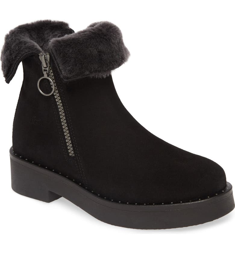 BOS. & CO. First Waterproof Genuine Shearling Bootie, Main, color, 001