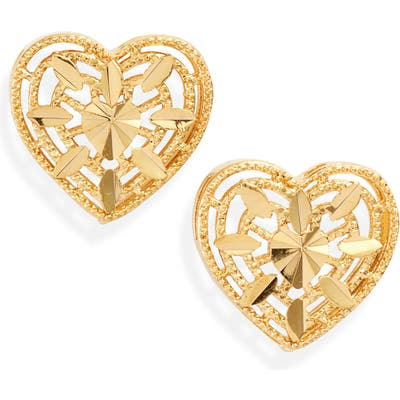 Bracha Yours Truly Heart Stud Earrings