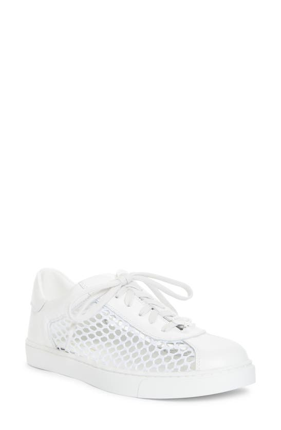 Gianvito Rossi Leathers MESH LOW TOP SNEAKER