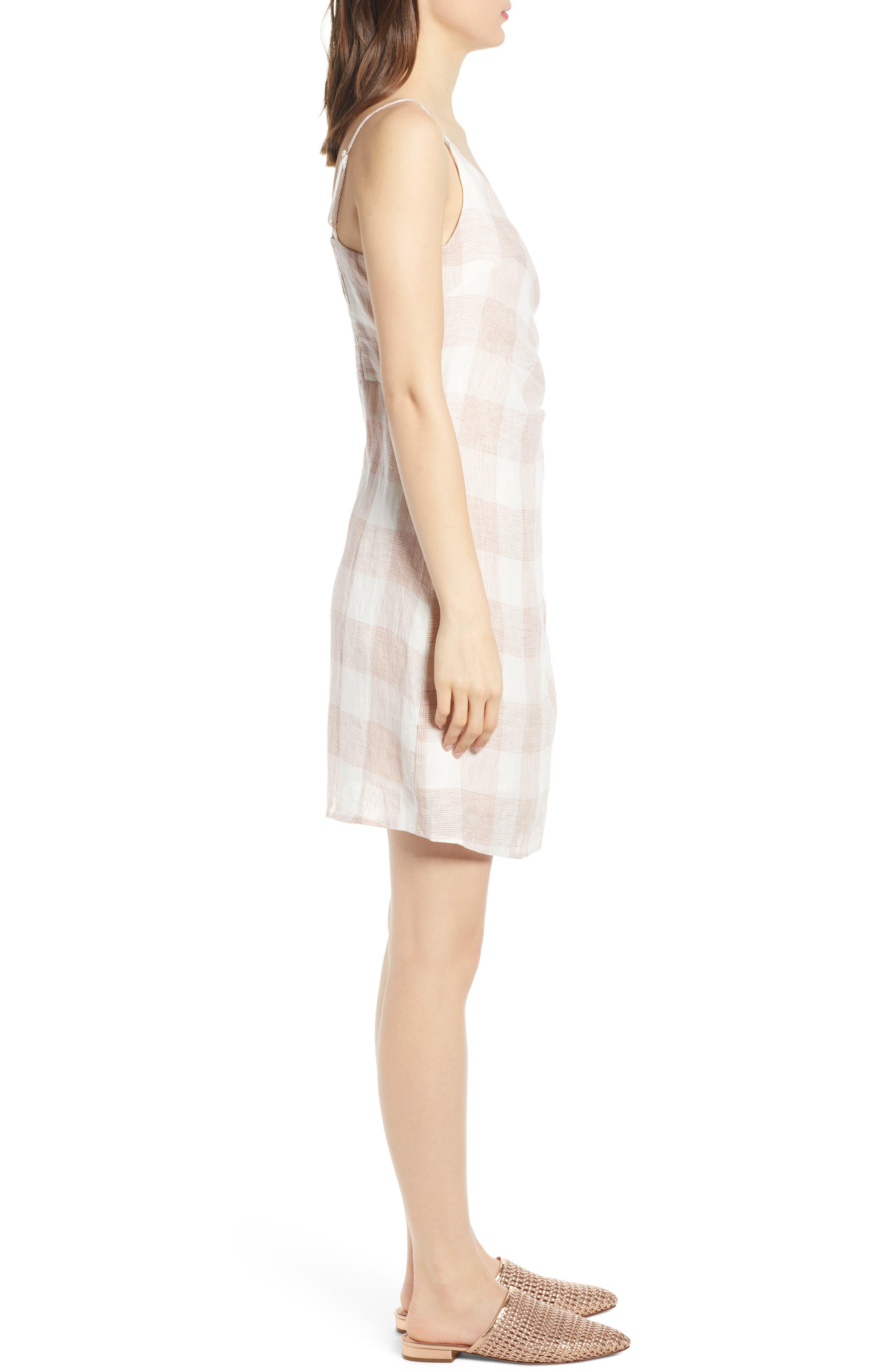 ,                             Whyatt Check Wrap Dress,                             Alternate thumbnail 4, color,                             CHECK