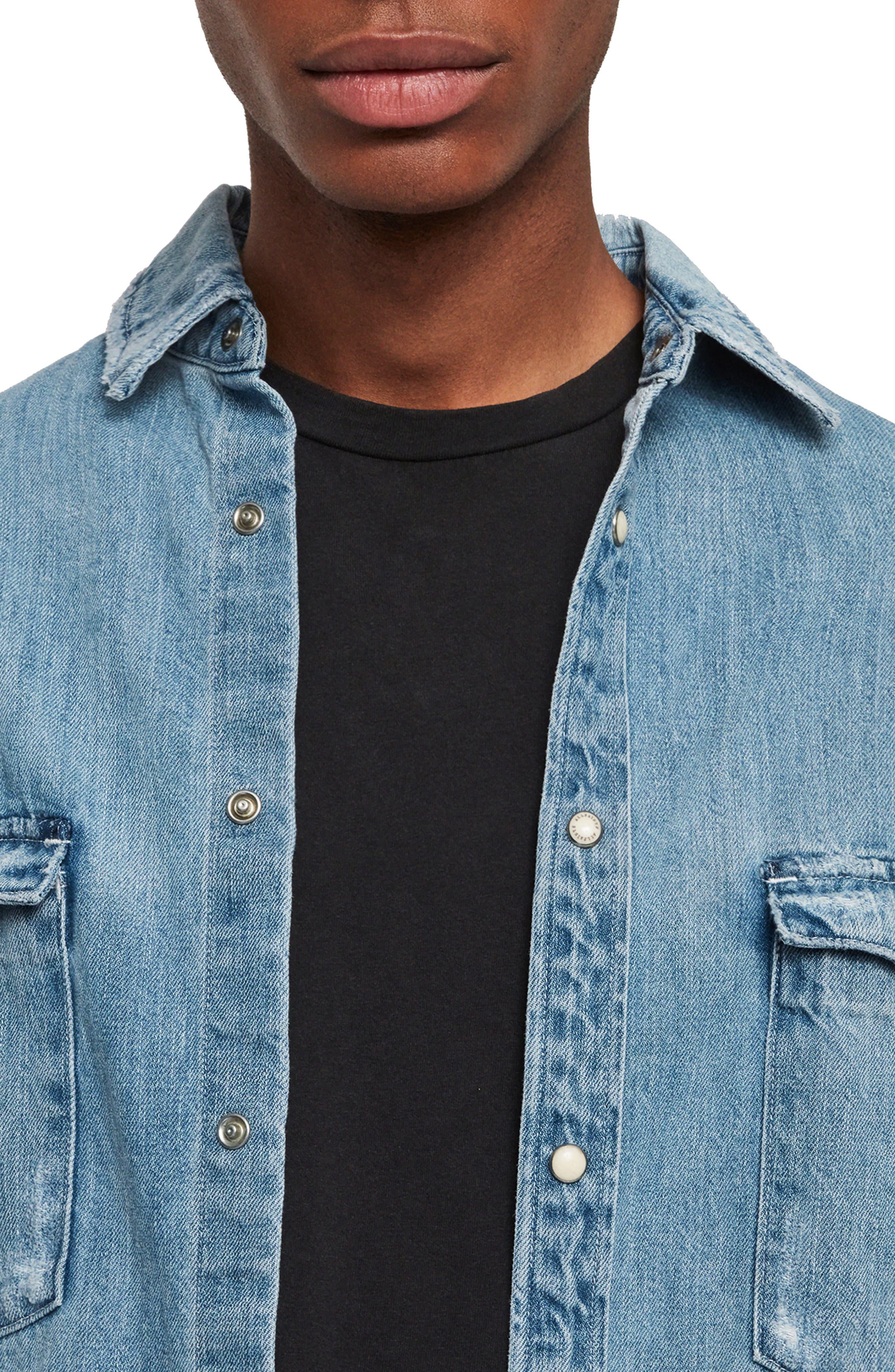 ,                             Intor Oversize Denim Shirt,                             Alternate thumbnail 2, color,                             INDIGO BLUE